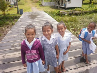 Kabakaburi children: Heading home from nursery school