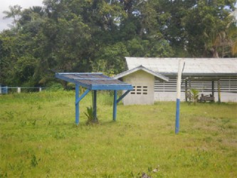 The solar panels used to pump water for the primary and nursery schools