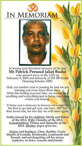 Mr Patrick Persaud