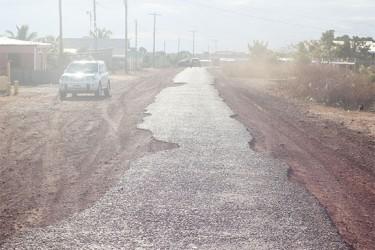 A crumbling road at Tabatinga