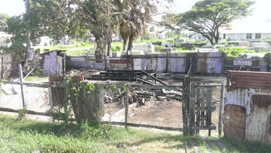 The remains of Deon Bamdeo's house after it was razed by an early morning fire.