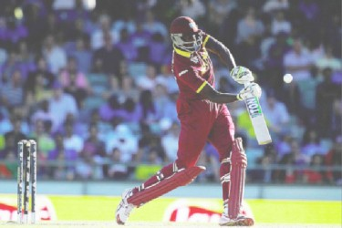 Skipper Jason Holder led from the front with the topscore of 57 but in the end the West Indies score of 182 proved to be very inadequate and the world champions coasted to a four wicket triumph. (Photo courtesy of WICB media)