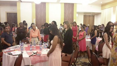 The gathering at the Pegasus Hotel