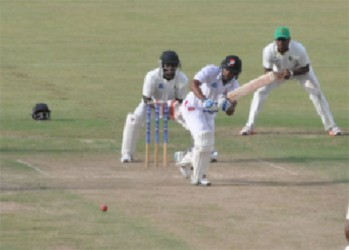 Yannick Cariah played well for his unbeaten fifty