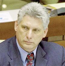 Cuba First Vice-President Miguel Díaz-Canel
