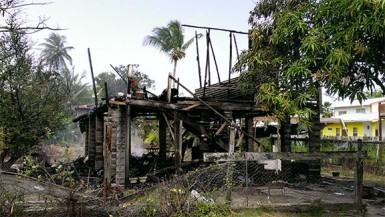 The remains of Donna Pickett's house.