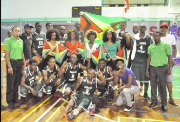 The victorious Guyana male basketball team