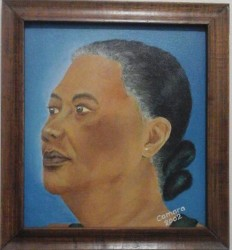 A portrait of his grandmother