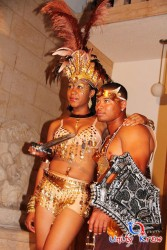 One of the costumes she designed for Unity Krew in the BVI.