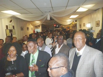 Part of the gathering at the meeting. (APNU+AFC photo)
