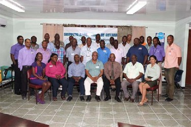 Employees of local shipping companies and Shipping Association officials at a recent seminar on protocols associated with the treatment of dangerous goods at sea.