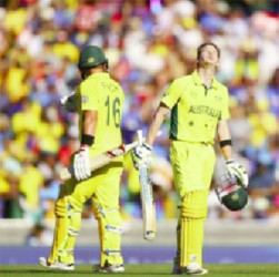 Steve Smith's 105, off 93 balls, was the centrepiece of Australia's 328 for 7. (ICC website)