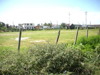 The playfield/community centre ground