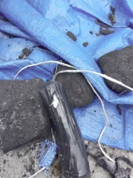 The charcoal containing cocaine (GRA photo)