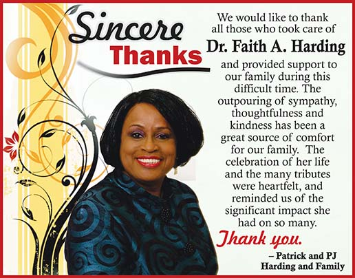 Dr. Faith Harding (Sincere Thanks)