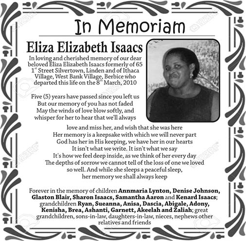 Eliza Elizebeth Isaacs