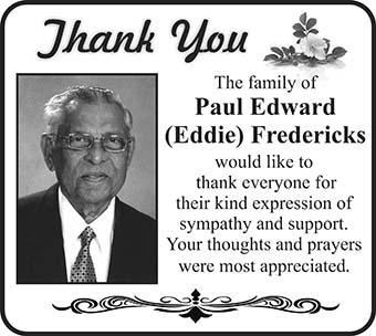 Paul Fredericks (Thank You)