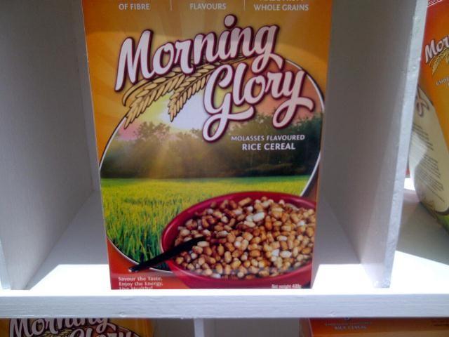 The Morning Glory cereal box (GINA photo)
