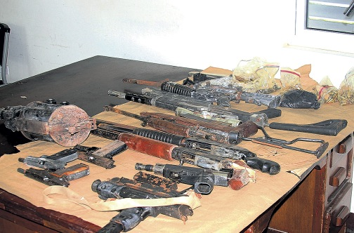 The weapons which were seized