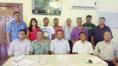 The recently elected executive of the Upper Corentyne Chamber of Commerce