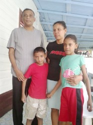 School teacher and pastor Karmanand Ramash and his family, who were traumatised during a home invasion last Thursday night.
