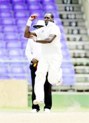Seamer Quinton Boatswain ... took two wickets