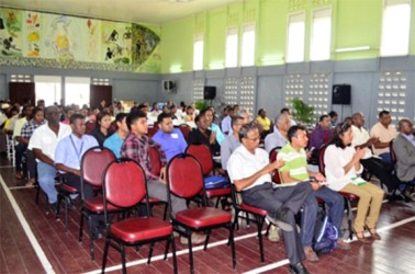 A section of the gathering at the Guyana and Mexico coconut training programme (GINA photo)
