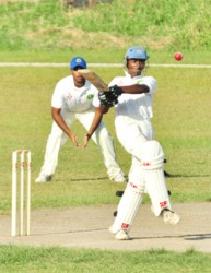 Nathan Persaud provided a brief show of his batting class during his attacking 33