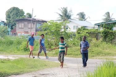 Boys on a mission: Village boys seeking fun