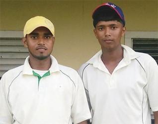 Khemraj Ramdeen (L) and Gavin Sookdeo