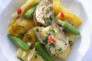 Steamed fish with Ground Provisions (Photo by Cynthia Nelson)