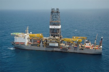 ExxonMobil's oil rig, the Deepwater Champion (GINA photo)
