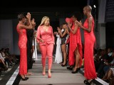 Sonia Noel on the catwalk at the end of her showing in St Lucia