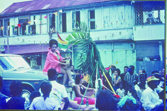 Independence Day float parade and pageantry in 1966
