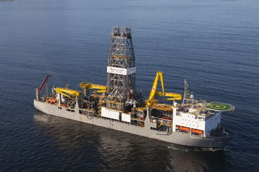 The Deep Water Champion Oil Exploration Rig which arrived earlier this year.