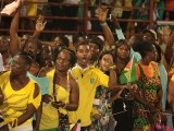 Spontaneous bursts of cheering erupted on Tuesday at the Guyana National Stadium at the inauguration for President David Granger.