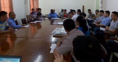 Members of the GCBC at the meeting on May 28 (GCBC photo)