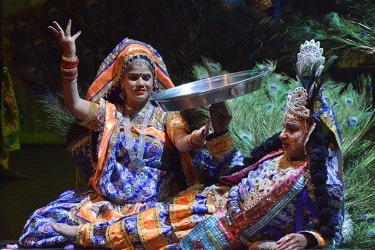 Members of the Rajasthani Folk Performance Troupe