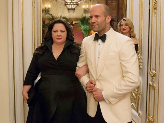 Melissa McCarthy and Jason Statham in a scene from the film