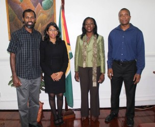 Minister Nicolette Henry with some of the directors of the GSSF board.