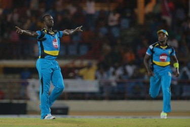 Kemar Roach produced an outstanding spell of fast bowling.