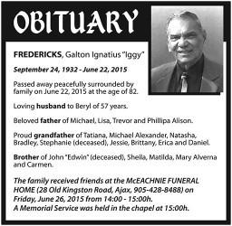"""FREDERICKS, Galton Ignatius """"Iggy"""""""