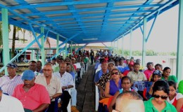 The gathering at Fisherfolk Day 2015 at Charity, Essequibo (GINA photo)