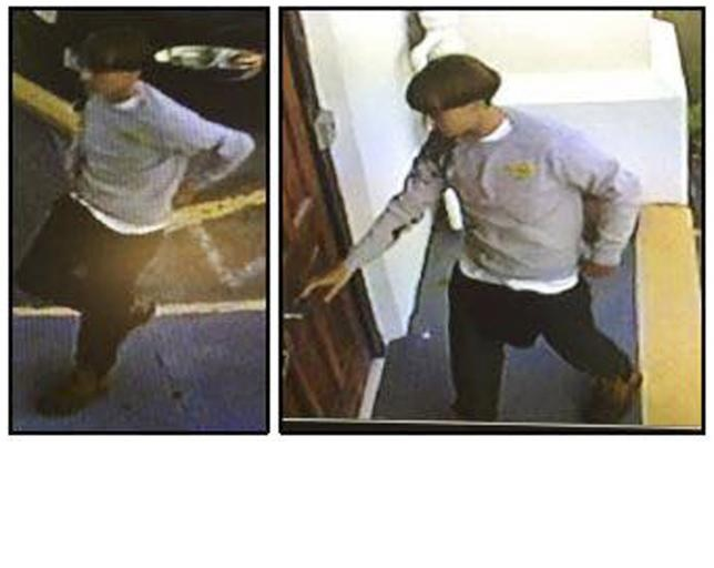 A suspect which police are searching for in connection with the shooting of several people at a church in Charleston, South Carolina is seen in stills from CCTV footage on a poster released by the Charleston Police Department June 18, 2015.  Reuters/Charleston Police Department/Handout via Reuters