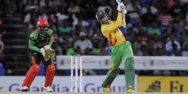 Amazon Warriors skipper Denesh Ramdin led his team to its first win of this year's CPL tournament with an unbeaten knock of 54. (Photo courtesy of CPL website)