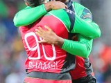 Marlon Samuels and Tabraiz Shamsi were the men mainly responsible for the Patriots win. (Photo CPL T20 website)