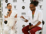 Anya Ayoung Chee (left) and Fashion Focus team member at the event last week (Photo by David Wears)