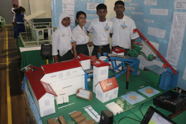 Students of the Abram Zuil Secondary School presenting at the Cliff Anderson Sports Hall during November last year.