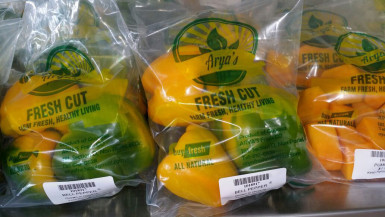 Fresh Cut vegetables packaged for sale