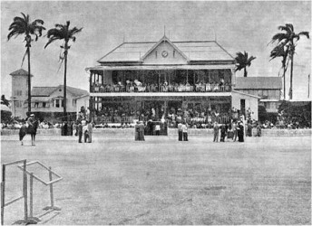 An early undated photo of the Georgetown Cricket Club, Bourda